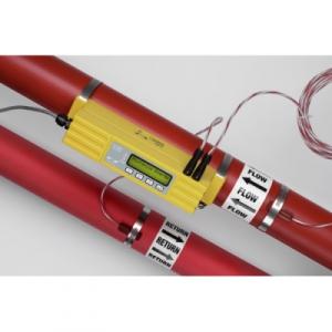 Ultrasonic clamp-on flow/energie meter