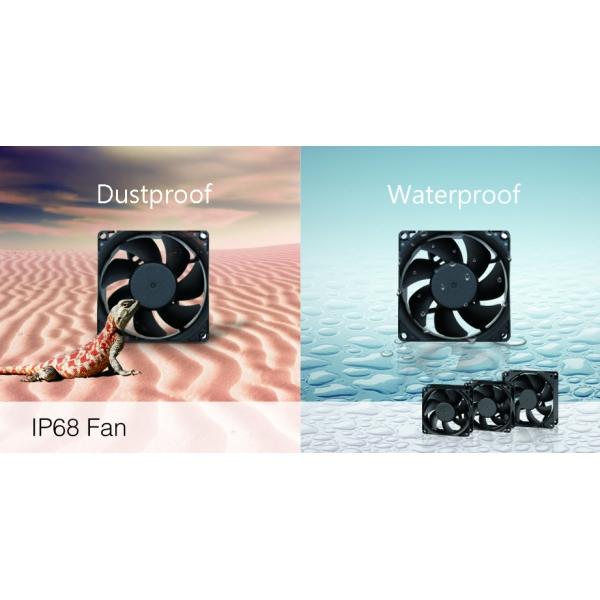 Water- and dust-proof fan