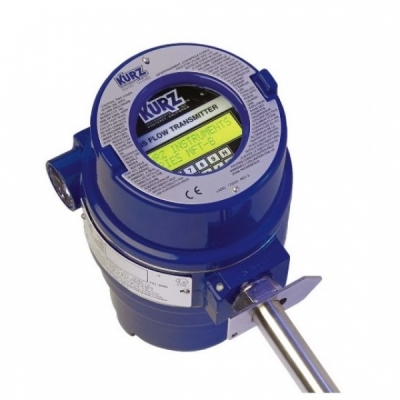 Thermal mass Flow meter for wet gas environments